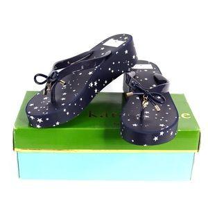 Kate Spade NY Star Pattern Platform Sandals Size 9
